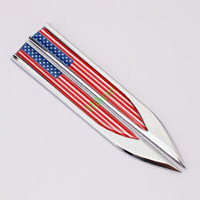 ​2X Auto Car Sport Metal Knife Badge Emblem Decal Sticker USA United States Flag
