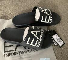 Mens Dark Navy Blue EA7 Emporio Armani Sliders - Slides - BNWT - Size UK 9