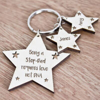 Personalised Christmas Gifts For Daddy Step Dad Grandad Mum Keyring Gifts K39