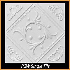 Ceiling Tiles Glue Up Styrofoam 20x20 R2 White Pack of 8