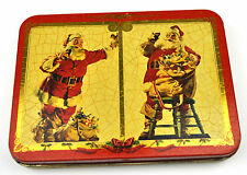 Beautiful Coca-Cola Sheet Metal Can Tin Box USA 1990er Santa Motif