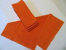 "Set of 4 Kitchen Dish Terry Cloth Hand Towels Solid Orange 27"" X 16''"
