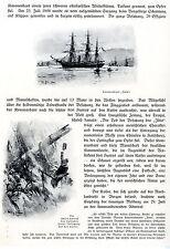 """Untergang des Kanonenbootes """"Iltis"""" bei Schantung * Vignetten v. W.Stöwer 1912"""