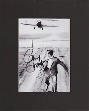 CARY GRANT,  N by NW, 8 by 10 MATTED REPRINT PHOTO & AUTOGRAPH PHOTO IS 5 X 7