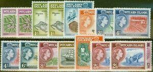 Pitciarn Islands 1957-63 Extended set of 16 SG18-28 + 33 V.F VLMM & MNH