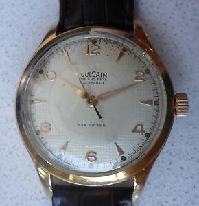 Vulcain Grand Prix, Vintage Watch, Swiss, Early 60's Overhauled, Guaranteed