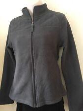 Merona Ladies Girls Jacket Cardigan Dark Grey High Neck Fleece Size XS/ 6