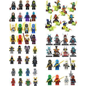 8X Ninjago Fit lego Pythor Minifiguren Ninja Polybag Zane Jay Cole Kai Lloyd Nya