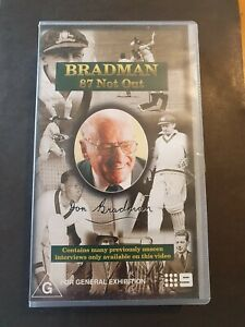 Don Bradman 🏏  87 Not Out Video VHS  LIKE NEW....COLLECTORS ITEM...