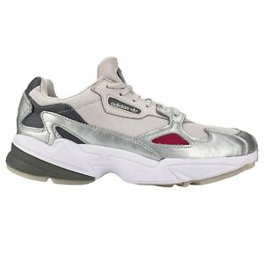 Adidas Originals Falcon Women's Size 9.5 D96757 Pink/Gray/Silver Sneakers