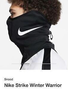 NEW Nike Strike Snood Winter Warrior Neck Warmer Running Soccer Size S/M Black