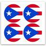 Baseball Softball Bat Knob Decal Set - Puerto Rico Flag bat sticker set
