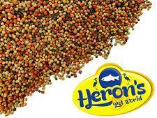 More details for herons cichlid trio pellets spirulina omega-3 colour enhancing malawi fish food