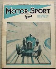 MOTOR SPORT Magazine May 1940  Georges-Irat  FRAZER NASH  Morgan