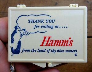 VINTAGE HAMM'S BEER BUSINESS CARD HOLDER WITH HAMM'S BEAR