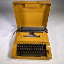 vintage REMINGTON 12 YELLOW typewriter manual portable with box working