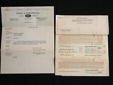 Rare Orig Sale Contract 1928 Ford Roadster Model A Horst & Strieter Co + Letter