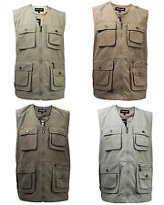 New Mens Bodywarmer Fishing Photography Outerwear Waist Coat Safari Gilet Jacket