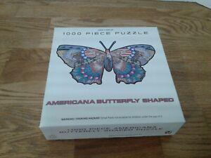 Der Grune Punkt Americana Butterfly Shaped 1000 Piece Jigsaw Puzzle USA