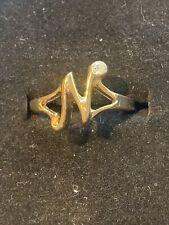BNWT GOLD N iniziale lettera Crystal Ring