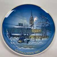 """ROSENTHAL 1965 Christmas Plate """"Christmas in Munich"""" Signed"""