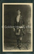 SCOTTISH GORDON HIGHLANDER RP REAL PHOTO POSTCARD MILITARY WW1 SOLDIERS