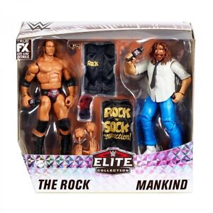 WWE Mattel The Rock and Mankind Elite Series Two-Pack Figures