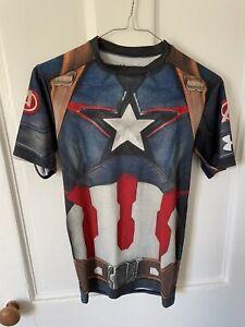 under armour Heat Gear Compression Top Captain America Avengers Marvel Medium