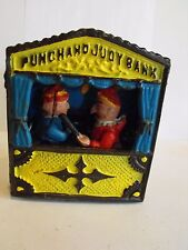 MECHANICAL BANK CAST IRON PUNCH AND JUDY IN WORKING CONDITION REPRODUCTION