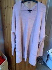 Ladies Dusky Pink Long Sleeve Cardigan - Large 14/16