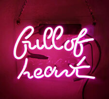 Tn055 'full of heart' Beer Home Decor Real Neon Light Sign 10x8 Hot New Pink
