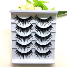 Hot 5pair False Eyelashes Thick Black Fake Eyelashes Extensions Makeup Tools