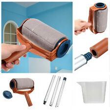 1Set Plastic Paint Roller Brush Painting Wall Home Furnishing Improvement Tools