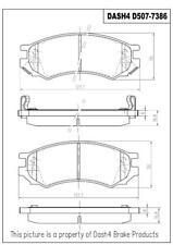 Disc Brake Pad Set-Rear Disc Front Dash 4 Brake CD507