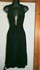 River Island Vintage black FRILL DRESS with shell detail size 8 UK