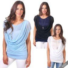 Camisa de mujer de manga corta de poliéster