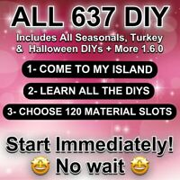 Animal Corssing Horizons FULL COMPLETE ALL DIY Recipes cards Full 637 ONLINE