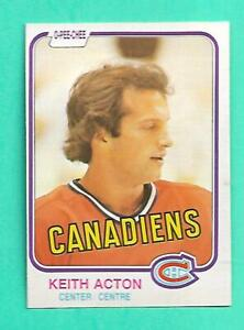 (1) KEITH ACTON 1981-82 O-PEE-CHEE # 181 CANADIENS ROOKIE NM CARD (V0419)