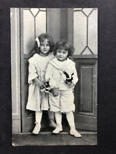 Vintage Postcard: RP Anon. People #B224: 2 Well Dressed Children