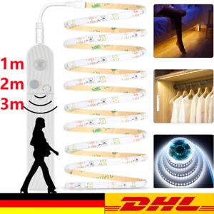 LED Stripe Batterie Lichtleiste Band PIR Bewegungsmelder Beleuchtung Streifen DE