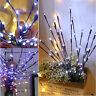 DIY 20LED Willow Tree Branch Light Xmas Vase Decor Fairy String Lamp Bendable