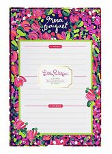 "LILLY PULITZER LIST PAD WILD CONFETTI 60 Notes in Patterned Tray ""Merci Bouquet"""