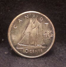 1962 Canada (Dominion) silver 10 cents, really nice proof like, KM-51