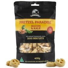 Bacon and Kale - 400g - Pretzel Shaped  - Dog Biscuit