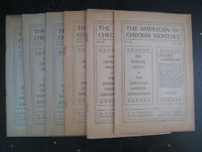 The American Checker Monthly : Vol.VII Nos.1 Thru 12 [1927 Complete] Soft Cover