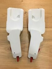 White QUINNY MOODD ADAPTORS TO FIT MAXI COSI CARSEAT & DREAMI COT ON PRAM