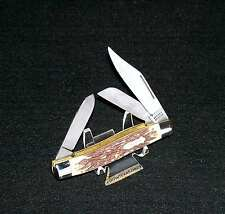 "Schrade 885UH Knife King Ranch Edition 4"" Closed Staglon Circa-1980's USA Made"