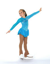 New Figure Skating Competition Dress Jerrys 159 Cerulean Blue Dress 8-10