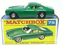 Matchbox Lesney No.75b Ferrari Berlinetta In Type 'F2' Series Box