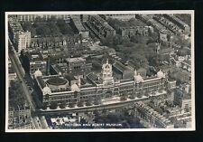 LONDON Victoria Albert Museum aerial view unused c1954 RP PPC by Aerofilms